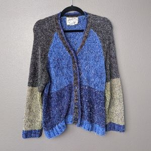 Vintage Heirloom Collectables colorblock cardigan